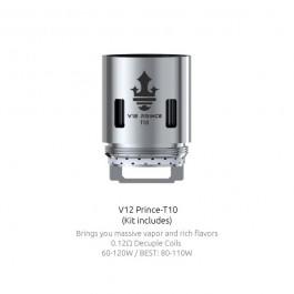 Résistances TFV12 Prince T10 (0.12) Smok (Pack de 3)