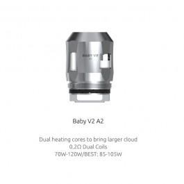 Résistances TFV8 Baby V2 A2 (0.2) Smok (pack de 3)