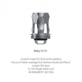 Résistances TFV8 Baby V2 S1 (0.15) Smok (pack de 3)