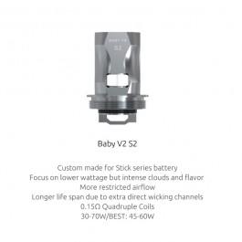 Résistances TFV8 Baby V2 S2 (0.15) Smok (pack de 3)