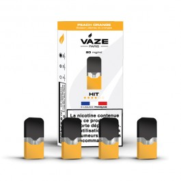 Pod Peach Orange pour batterie Vaze (pack de 4)