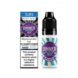 Blackcurrant Ice SALTS 10ml Dinner Lady (pack de 5)