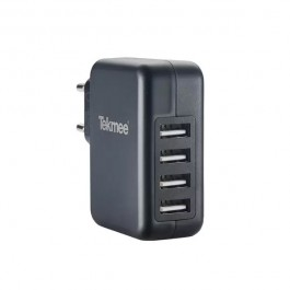 Chargeur Mural 4 Ports USB 4.8A Tekmee
