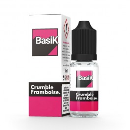 Crumble Framboise 10ml BasiK by Cloud Vapor (sels de nicotine)