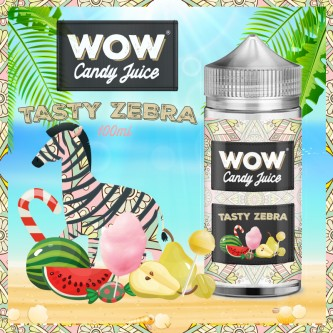 Tasty Zebra 100ml WOW Candy Juice by Made in Vape