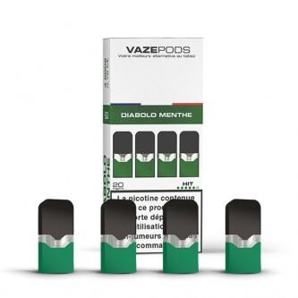 Pod Diabolo Menthe pour batterie Vaze (pack de 4)