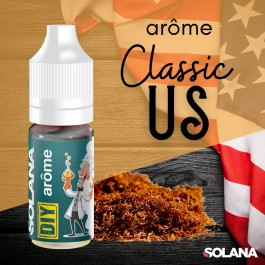 Arôme Tabac US 10ml Solana (10 pièces)