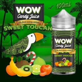Sweet Toucan No Fresh 100ml WOW Candy Juice by Made in Vape