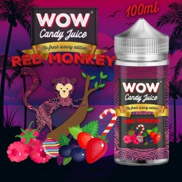 Red Monkey No Fresh 100ml WOW Candy Juice by Made in Vape