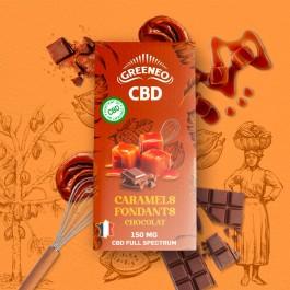 Caramels fondants au chocolat CBD Greeneo