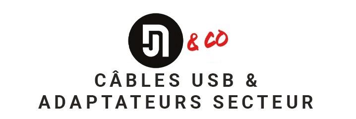 Câbles USB et adaptateurs secteur